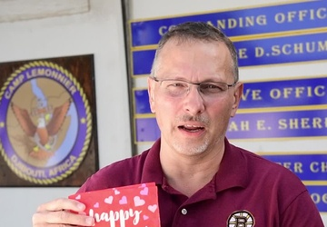 Happy Valentine's Day from Camp Lemonnier NEX Manager
