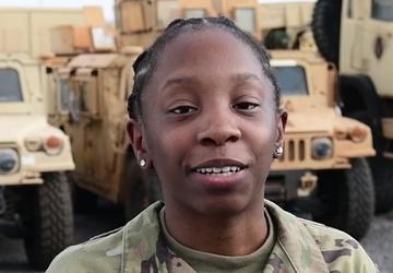 U.S. Air Force Airman 1st Class Susan Hicks - Black History Month Message