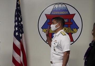 CSG7's Rear Adm. Butch Dollaga promoted to rear admiral (upper half)