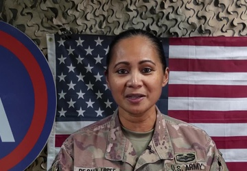 Lt. Col. May De Gala-Losee's Army Birthday Shoutout from Kuwait