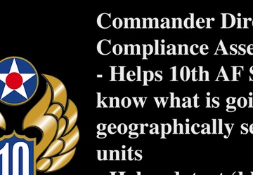 July Commentary Tenth Air Force IG