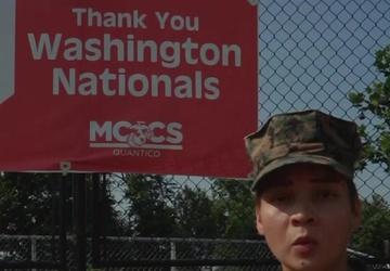 Washington Nationals - Lance Cpl. Jessica Foraker