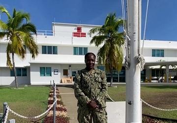 HM3 Winisha McLarty Shouts Out LA Rams from Guantanamo Bay Cuba