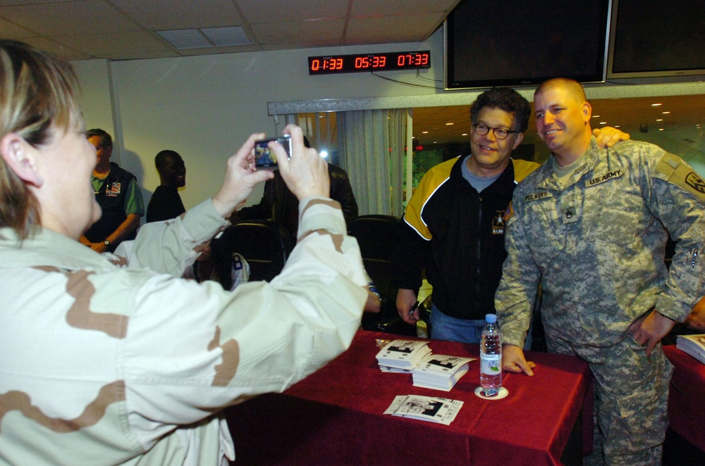 Al Franken delivers message and entertainment for deployed troops
