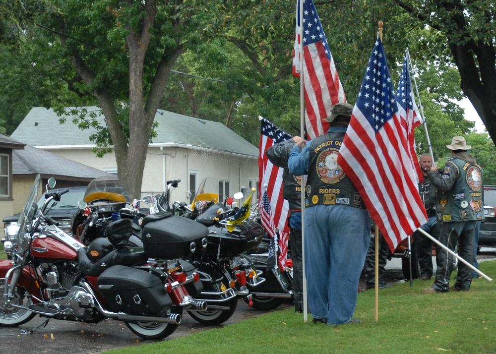Patriot Guard Displays Flags