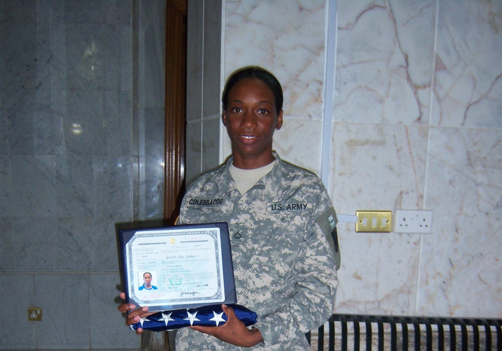 The sky's the limit for new U.S. citizen