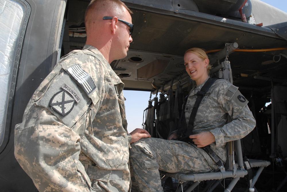 Sister, brother reunite in Iraq