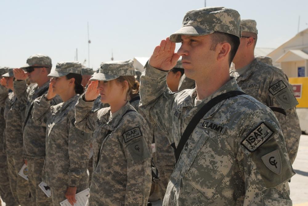 U.S. Army 235th Birthday ceremony at Camp Phoenix, Kabul, Afghanistan