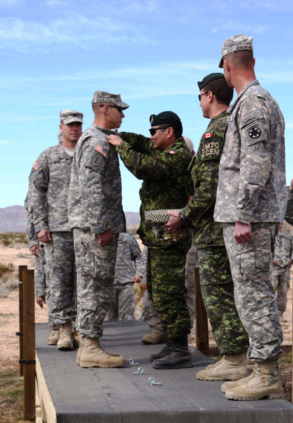 Canadian, US Paratroopers train together, exchange jump wings