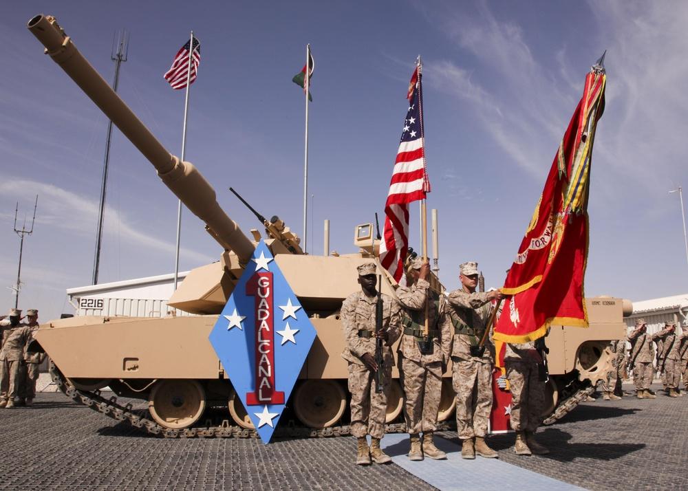 Task Force Leatherneck Changes Hands in Ceremony