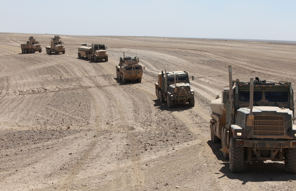 On the road again: Army, Marines team up to deliver supplies
