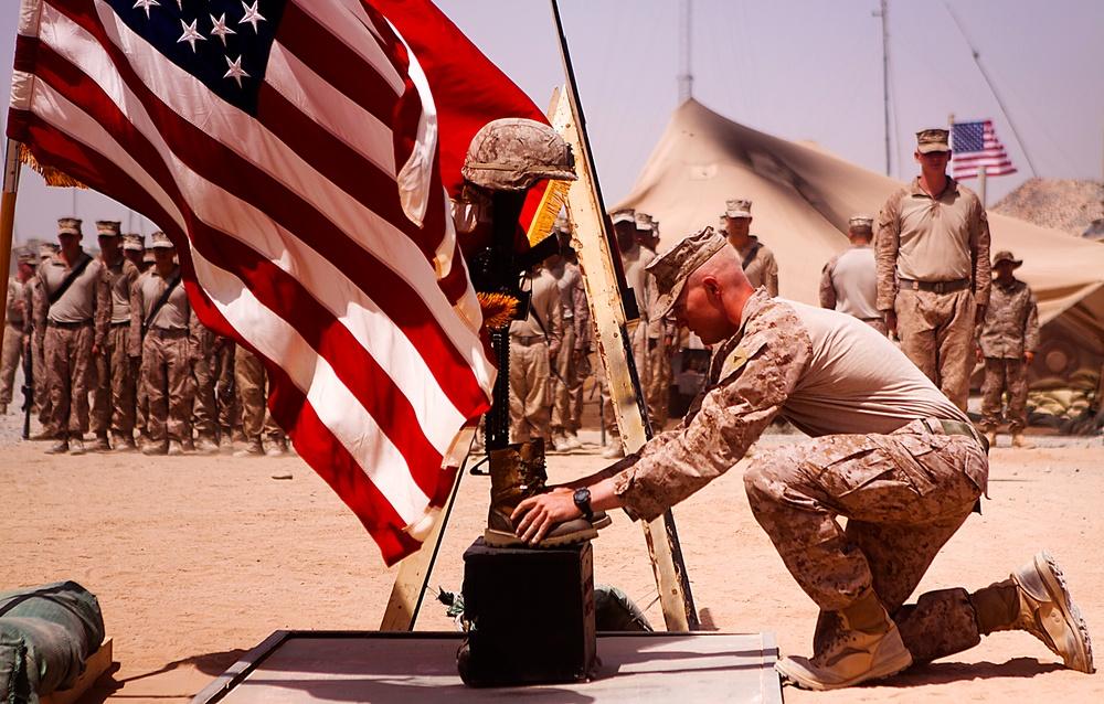 Memorial honoring the fallen