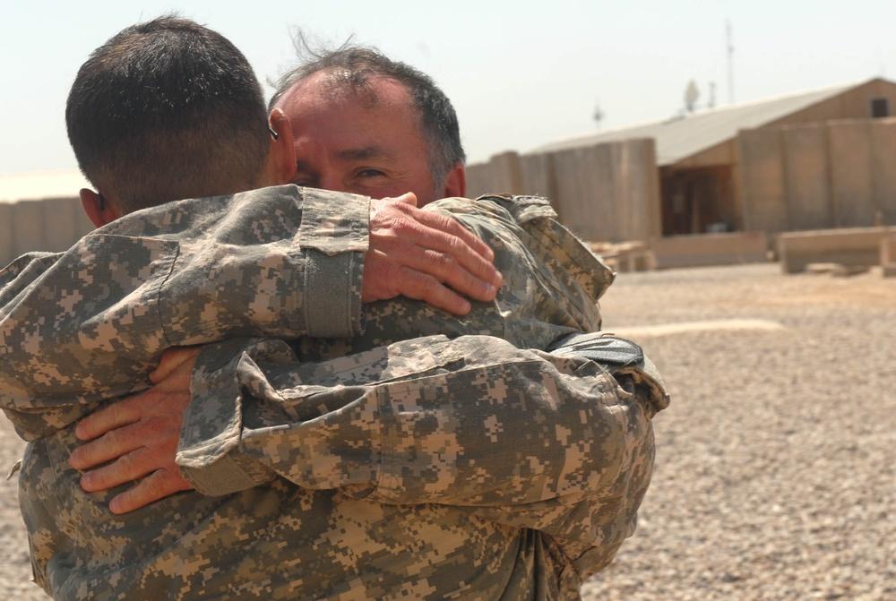 Father and son reunite