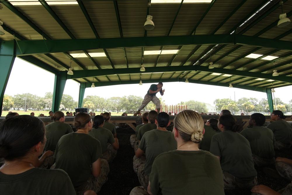 Female recruits train to be warriors