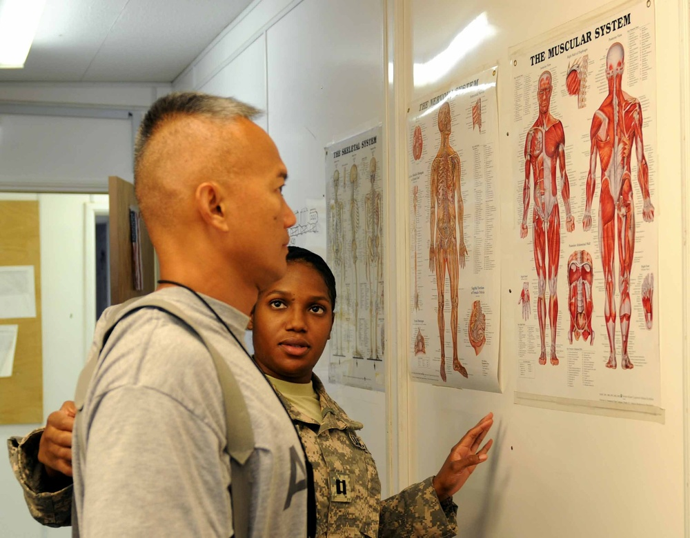 Physical therapy taking away soldiers' pain