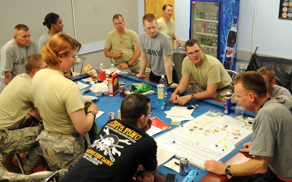 Soldiers escape to magical world through role-playing game