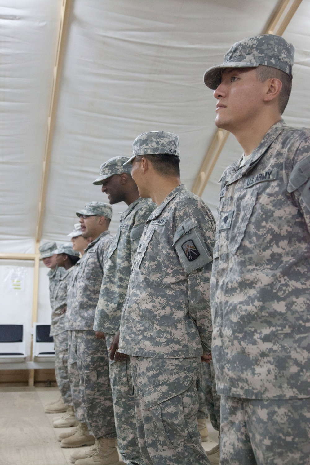 Transfer of authority ceremony at Camp Virginia