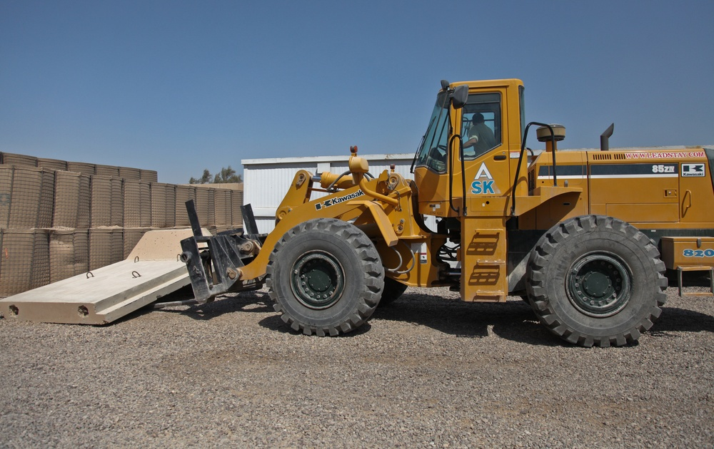 T-wall construction on Sather Air Base