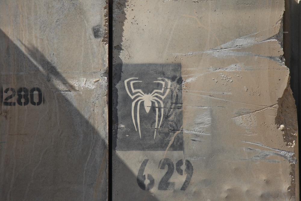 T-wall art on Sather Air Base