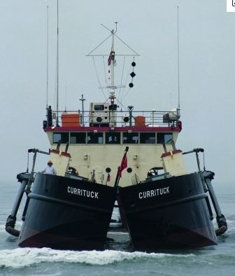 Army Corps Dredge Currituck in action