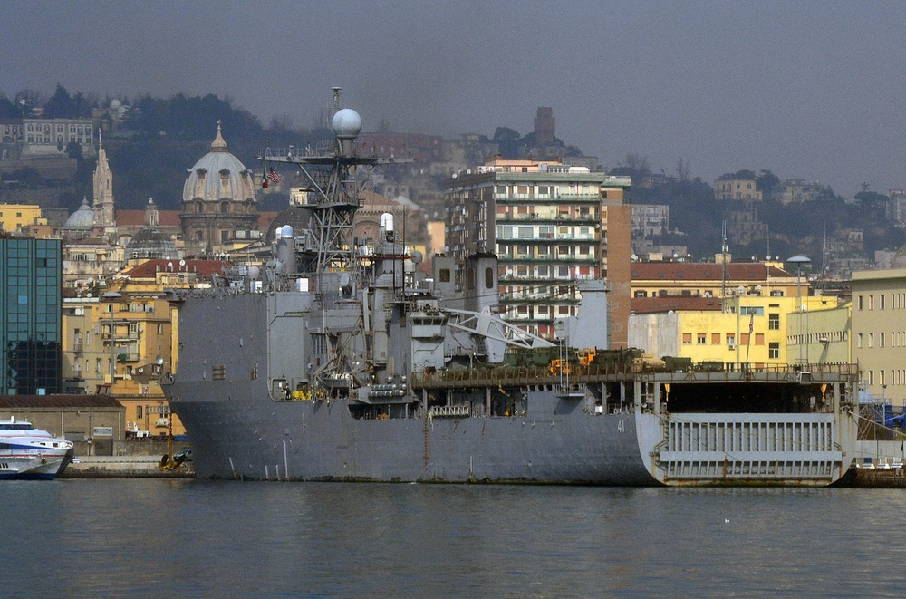 USS Whidbey Island sailors in Naples