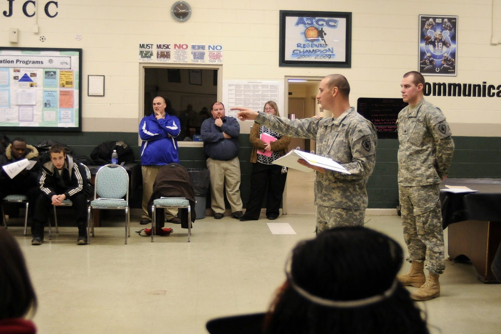 B Troop give class on military hand signals