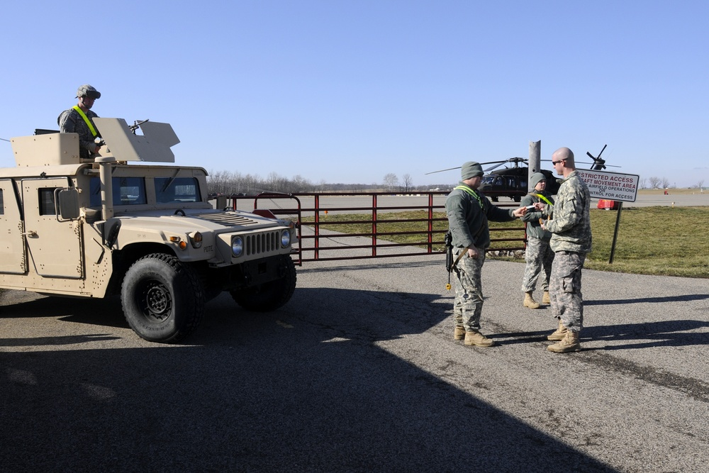 702nd Military Police Company conducts flight line security