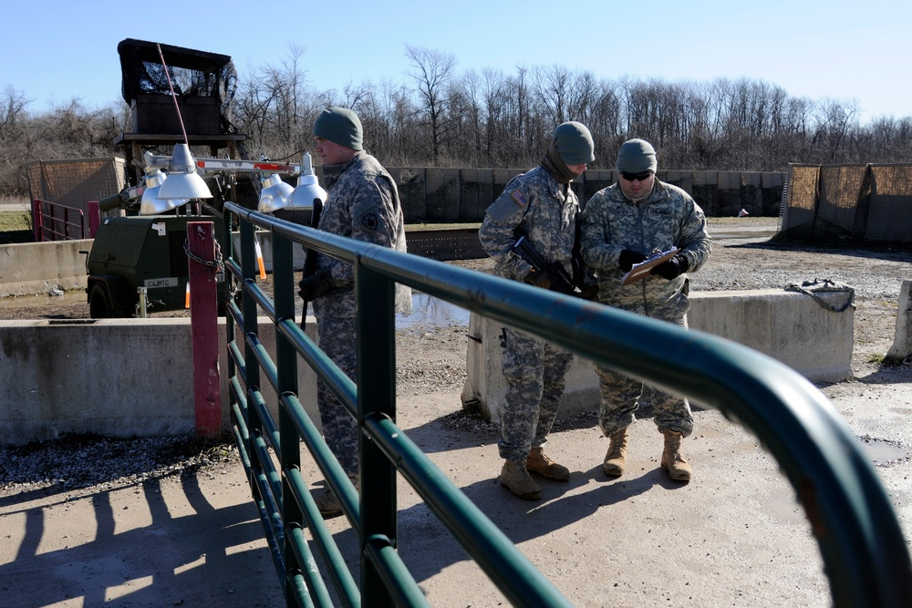 712th Military Police Company conducts base security