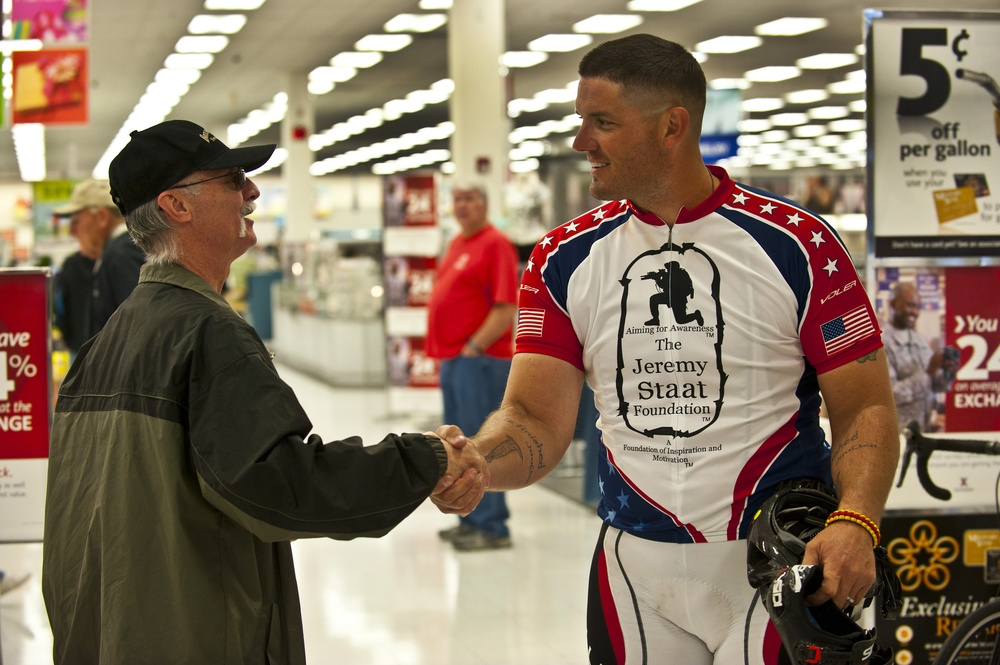 Veterans ride cross-country for unity