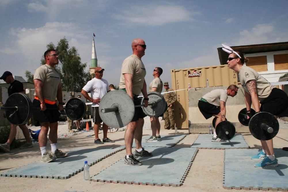 Warhorse soldiers honor fallen through Crossfit