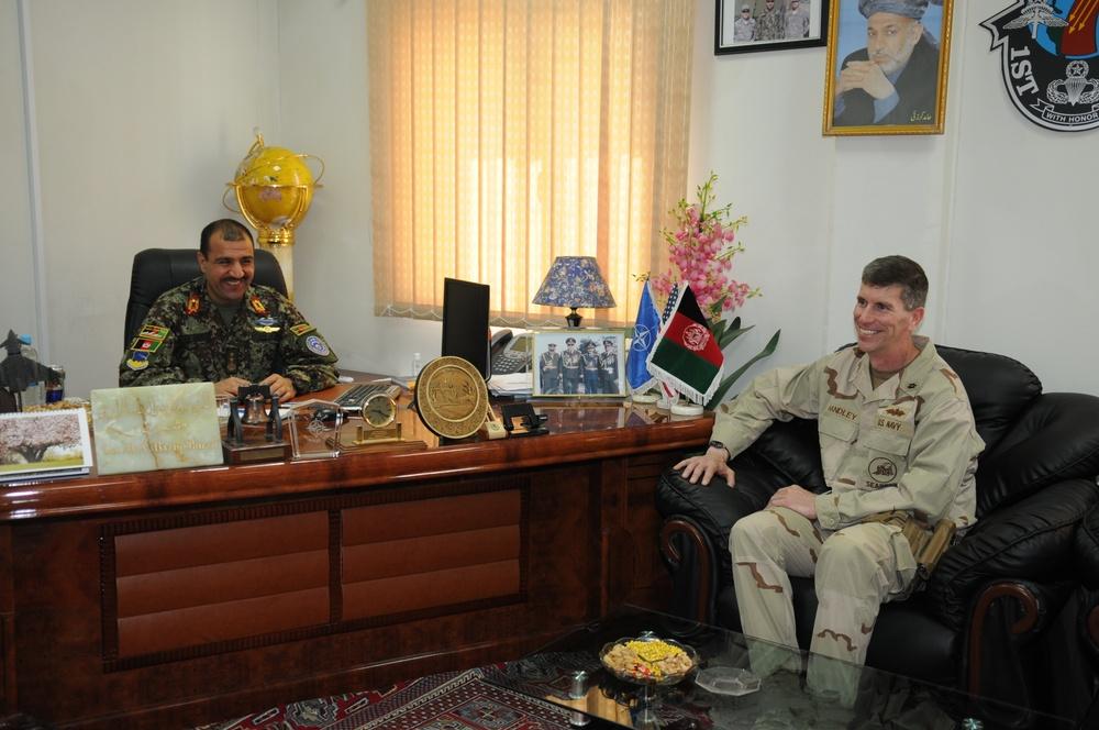Admiral Handley visits Task Force Stethem in Kandahar