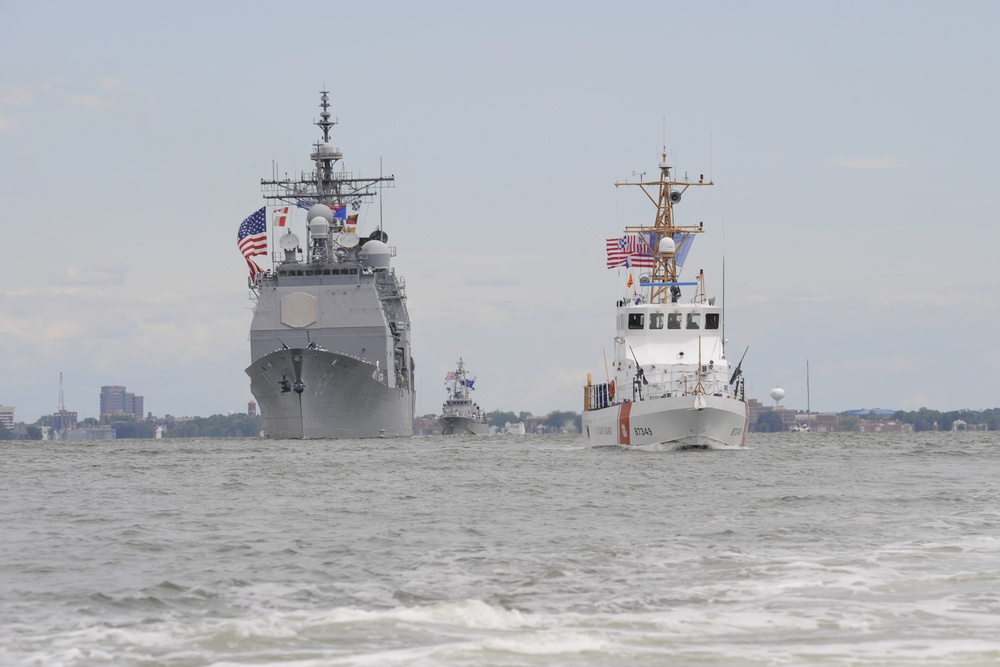 Coast Guard leads the Parade of Ships