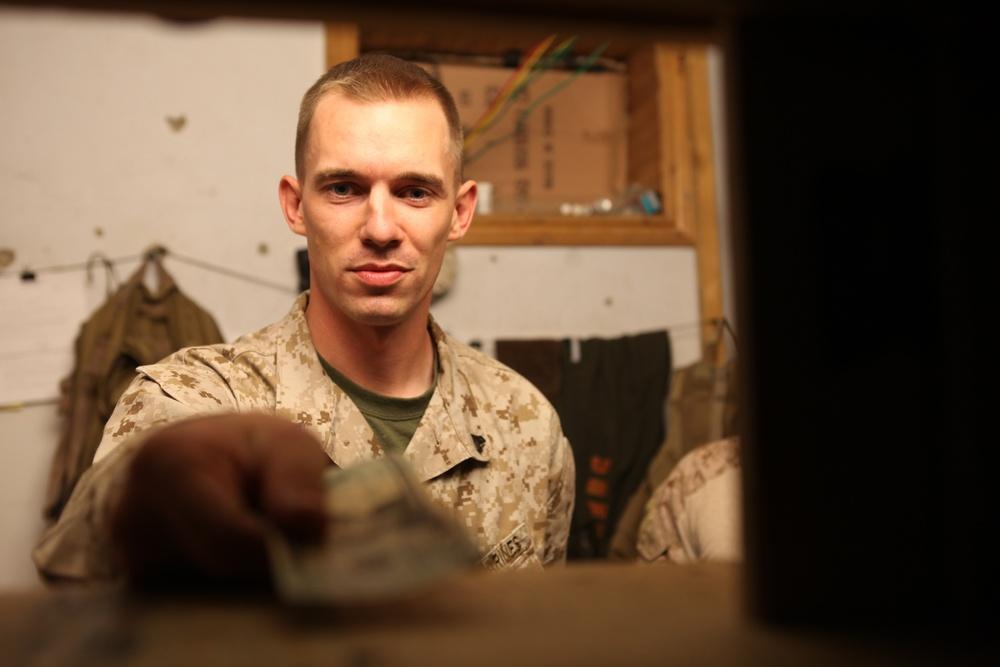 Disbursing Marine keeps the cash flowing