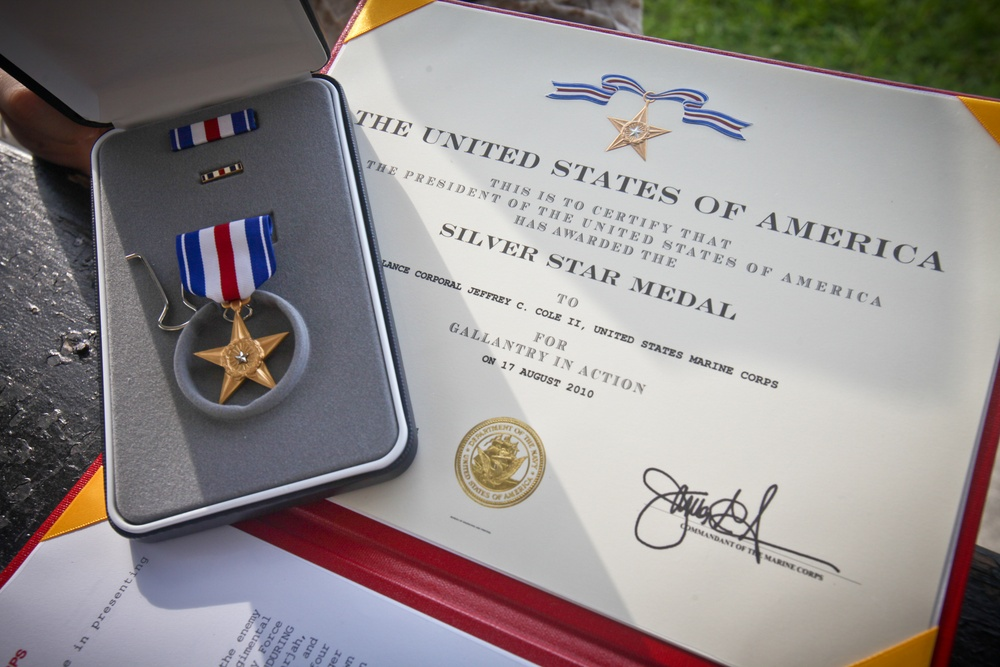 Georgia Marine awarded Silver Star for heroic actions in Afghanistan