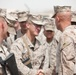 Task Force Leatherneck commanding general bids farewell to RCT-5 Marines and sailors