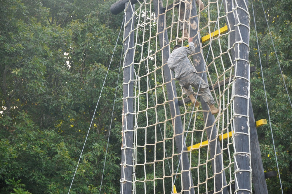 The obstacle course is a 'tough one'