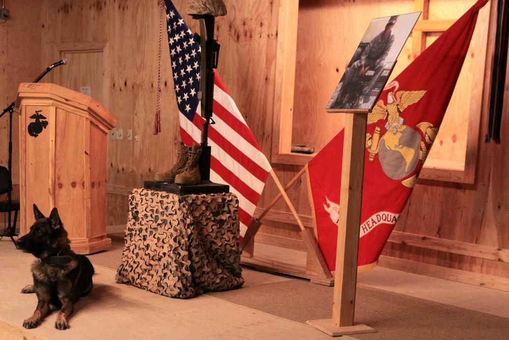 Marines bid farewell to friend, brother