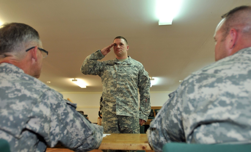 MNBG E conducts soldier and NCO of the rotation board