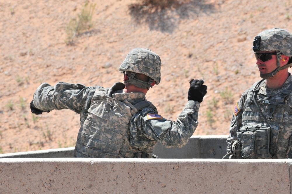 2-1 STB soldiers demonstrate proficiency at grenade range