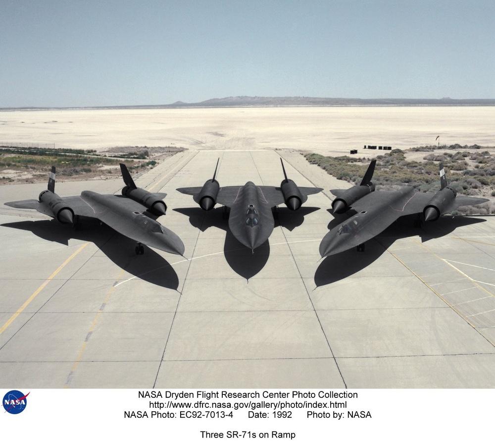 Three SR-71s on Ramp