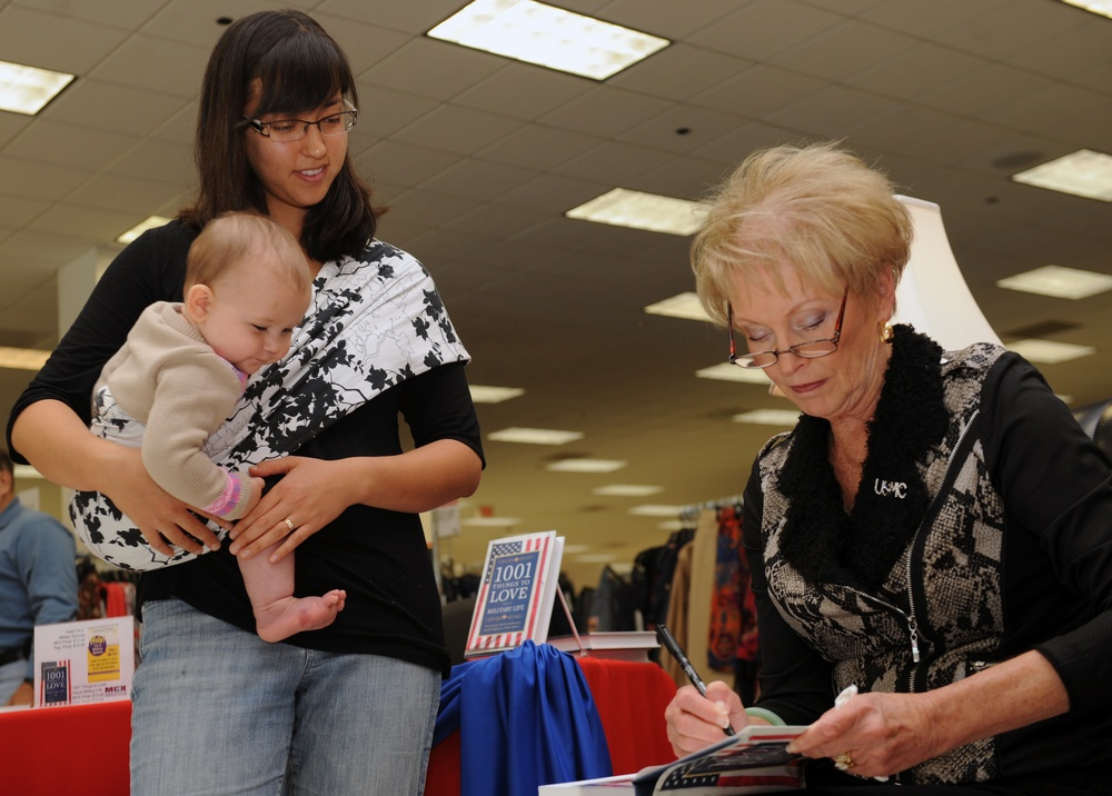 'First Lady of the Marine Corps Recommended Reading List' book signing