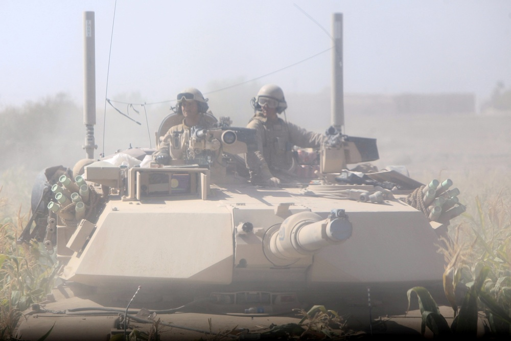 Tanks disrupt enemy activity in known insurgent hotbed