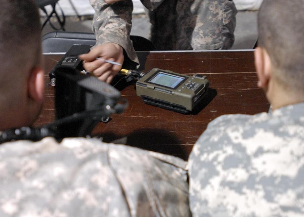 801st BSB troops train on MBITR radios