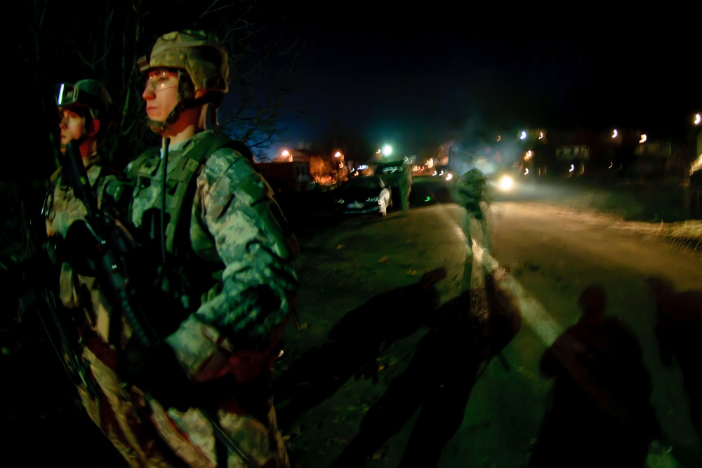 Kosovo Force removes concrete barricades in Rudare