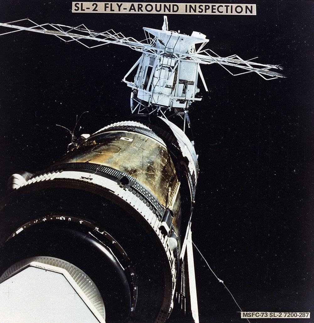 Damaged Skylab