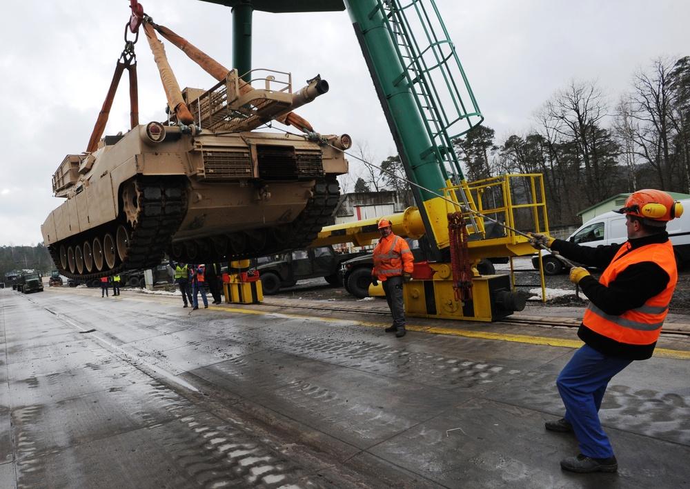 Loading the tanks