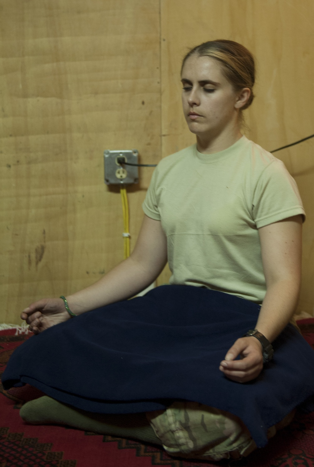 Meditation and healing combats stress