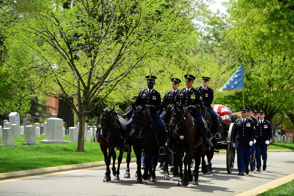 Medal of Honor recipient Lt. Col. Don C. Faith Jr. burial