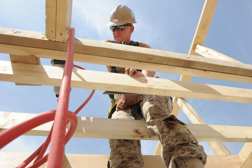 Kandahar Seabees build for Regional Command South