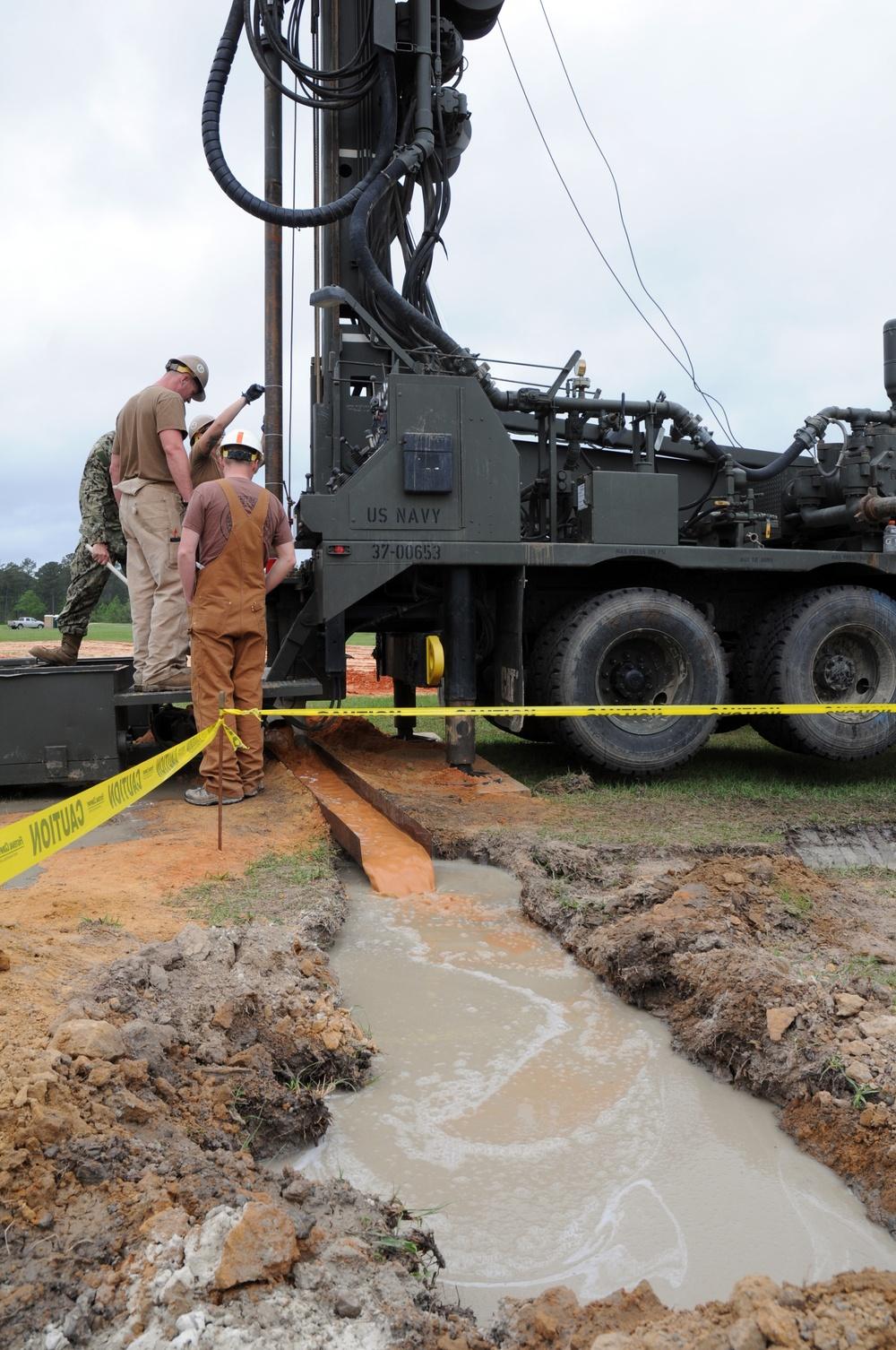 NMCB 11 water well training